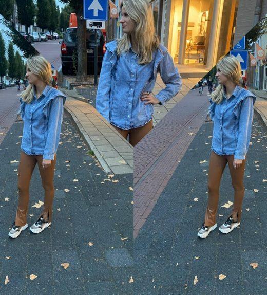 Joss jeans blouse