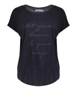 Geisha shirt let dreams your anthracite