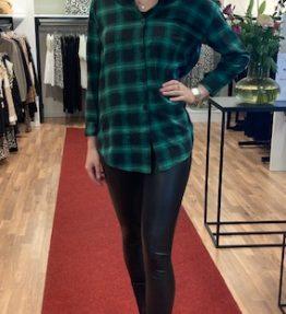 Blok blouse groen